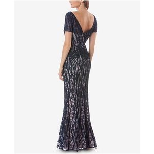 NEW! JS Collections | Embroidered Lace Gown Sz 14